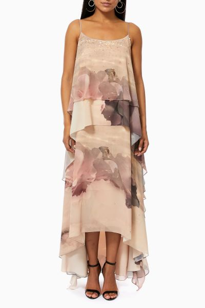 Bow Tie Wide-Leg Crepe Jumpsuit