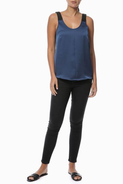 My Place Or Yours Silk Camisole Top