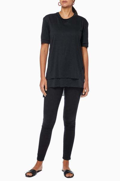 Hady Double-Layer Cotton T-Shirt