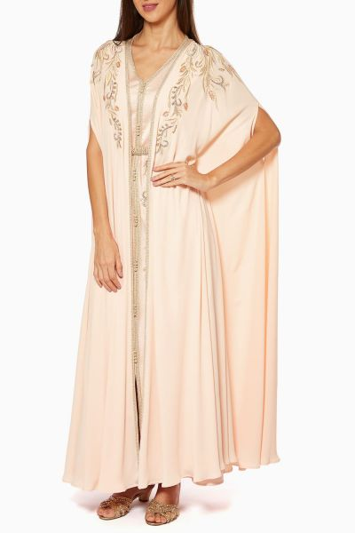 Belted Two-Piece Silk-Crepe Dress