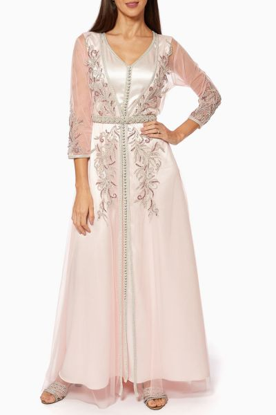 Bead-Embellished Two-Piece Maxi Dress