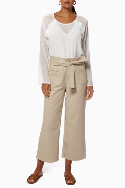 Cookie Belted Flared Trousers