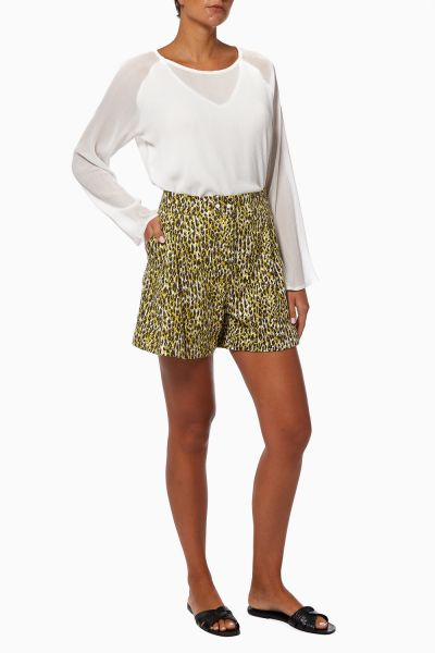 Soline Printed Cotton Shorts