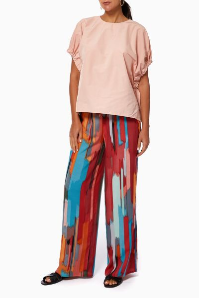 Ethnic Pants and Blouse Set