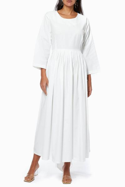 Double-Belted Cotton Dress