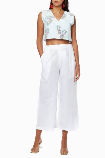 Sleeveless Printed Cropped Top